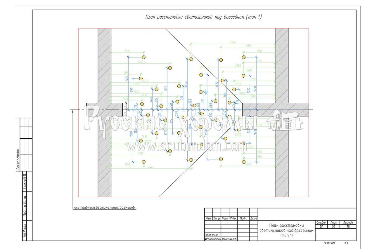 план-схема срубового дома