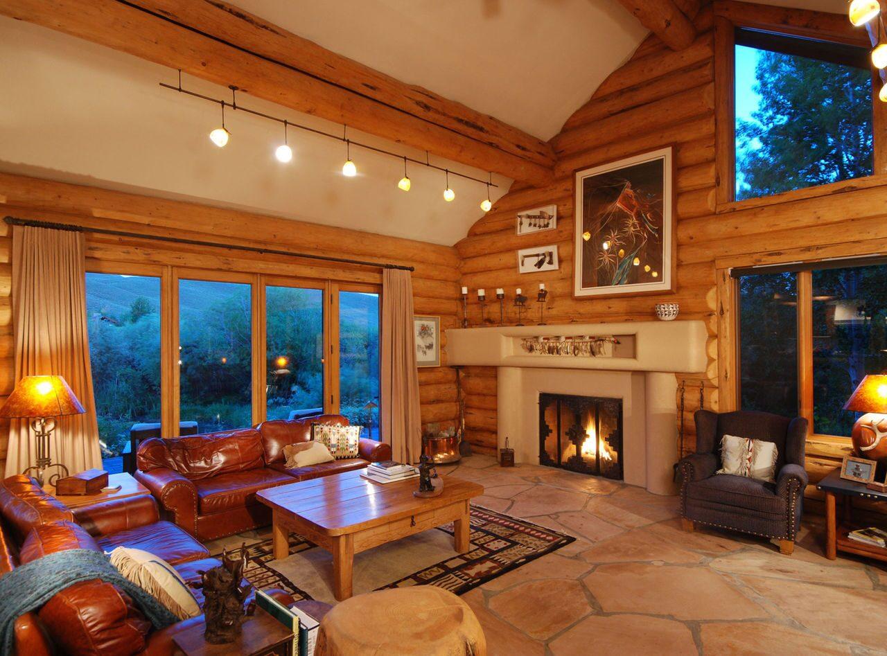 Дизайн освещения в деревянном доме