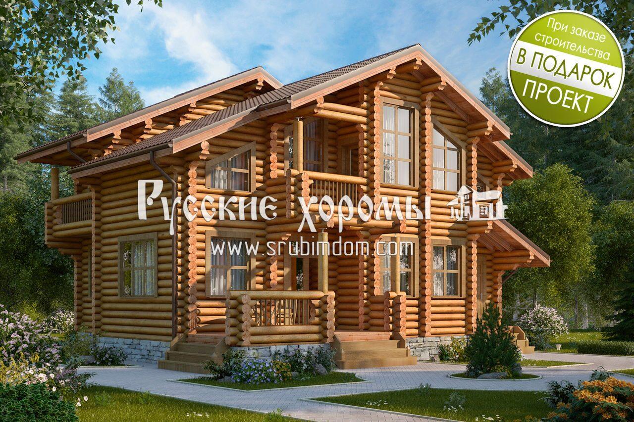 Купить деревянный дом из бревна под ключ в Москве