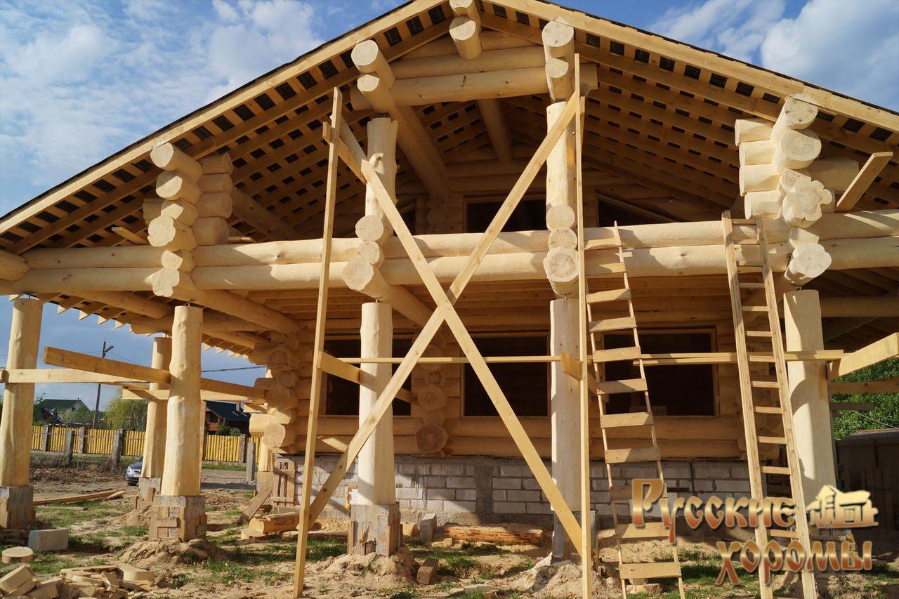 Каркасно бревенчатый дом своими руками 33
