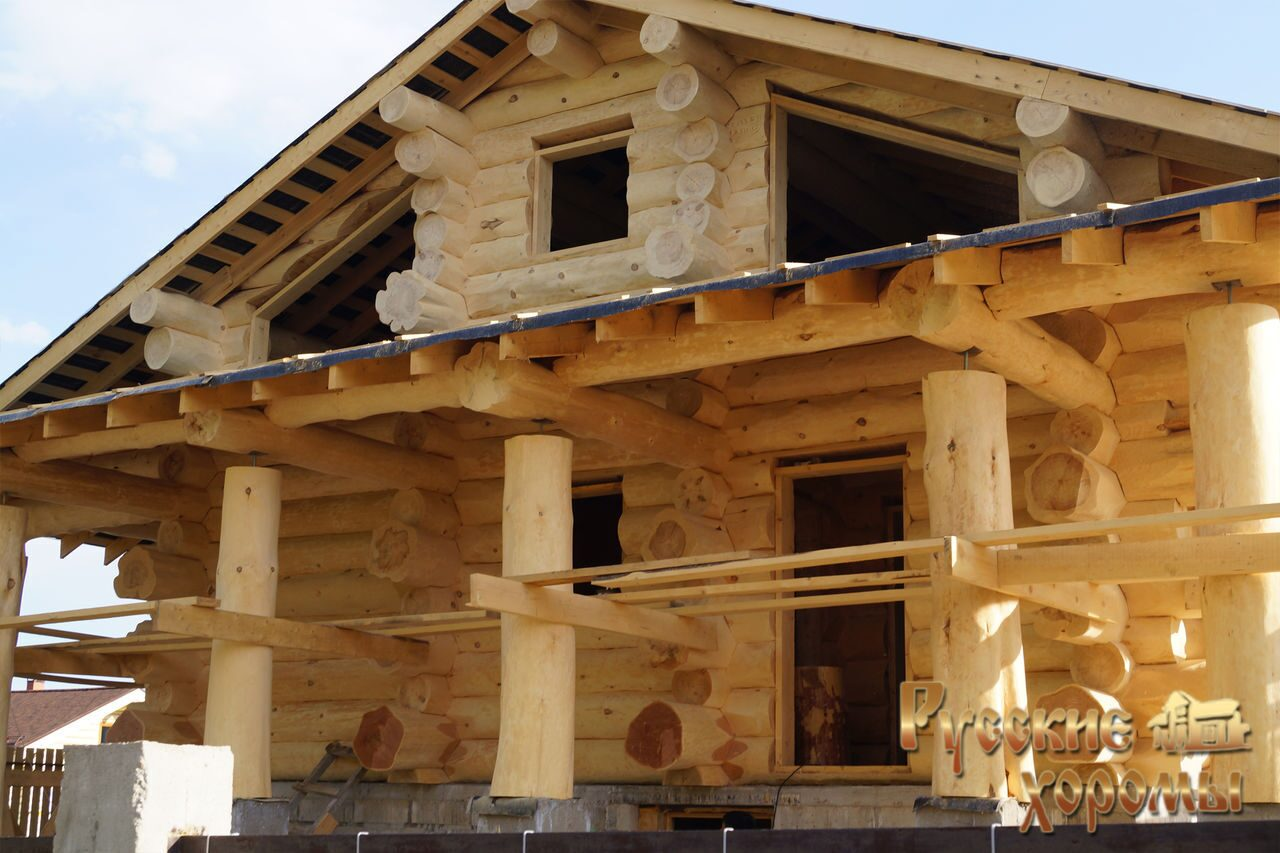 Проекты домов из бревна ручной рубки - Срубы дома
