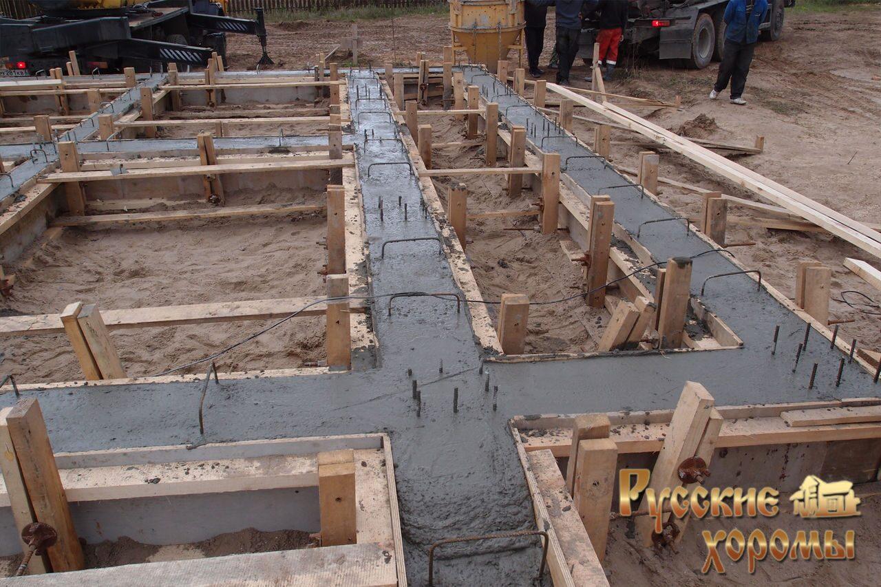Фундамент для деревянного дома фото
