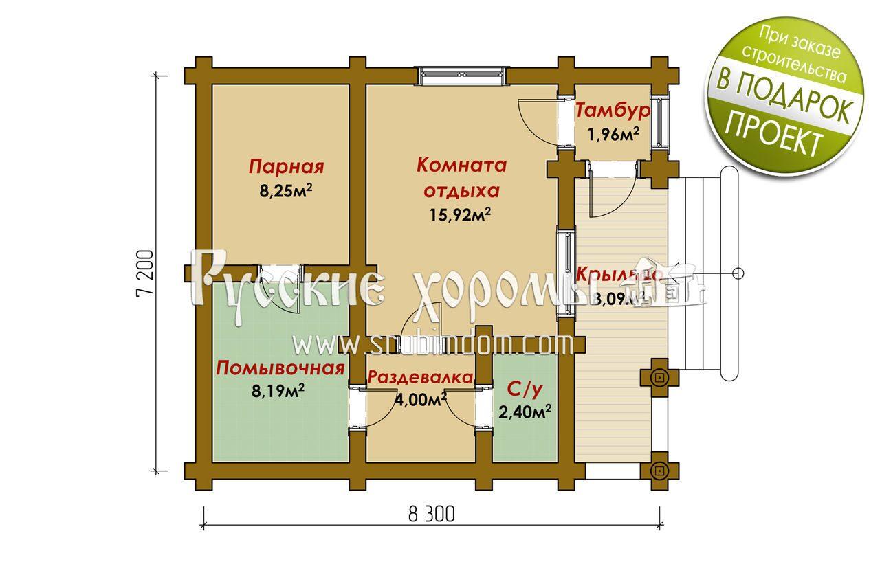 Фото и схемы строительства бани