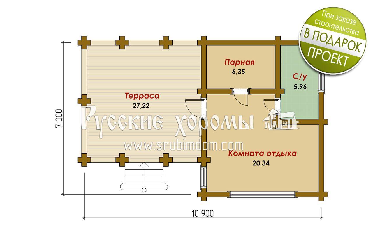 Схема бани с беседкой фото