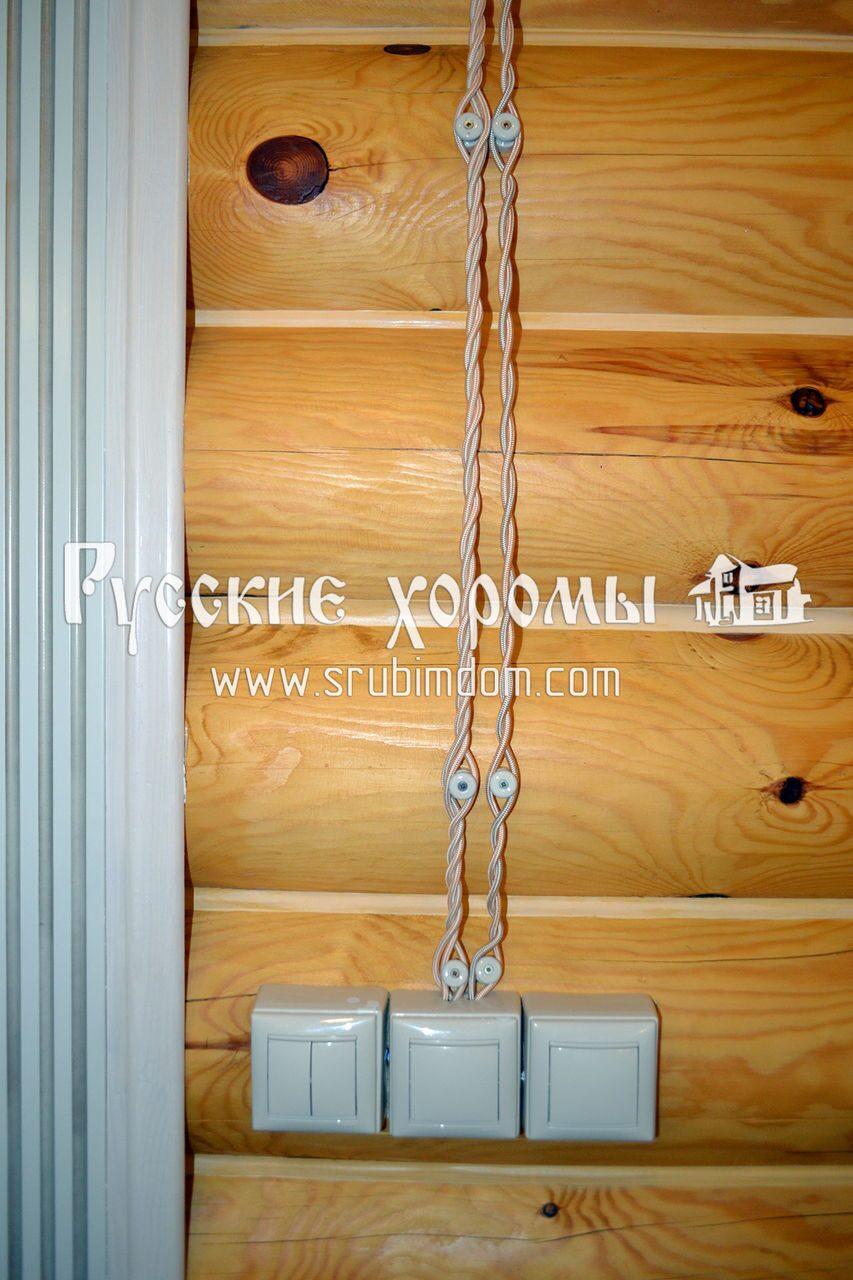 Как сделать электрику в деревянном доме цены 200