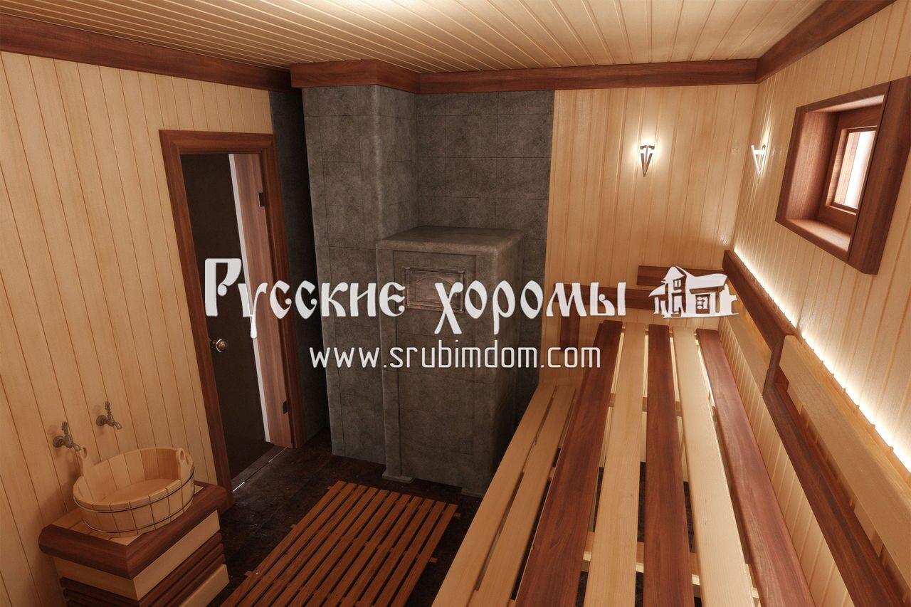 Дизайн бани в русском стиле фото