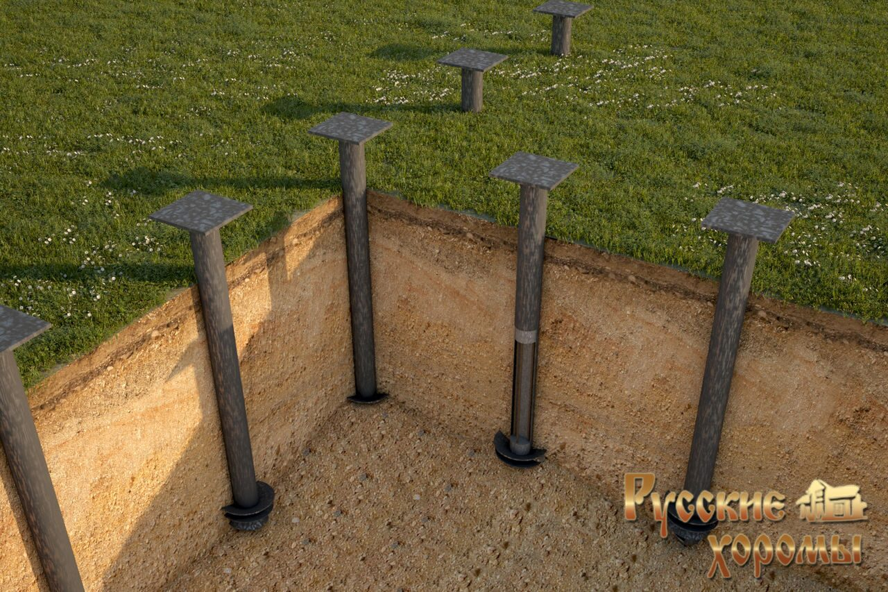 Фундамент на винтовых сваях - винтовые сваи под фундамент