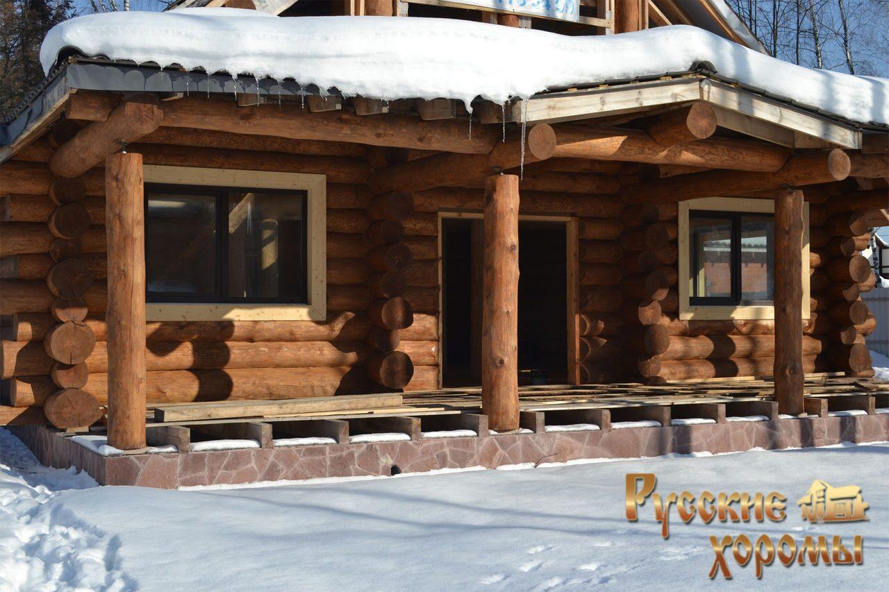 Пристройка к деревянному дому из бревна своими руками фото