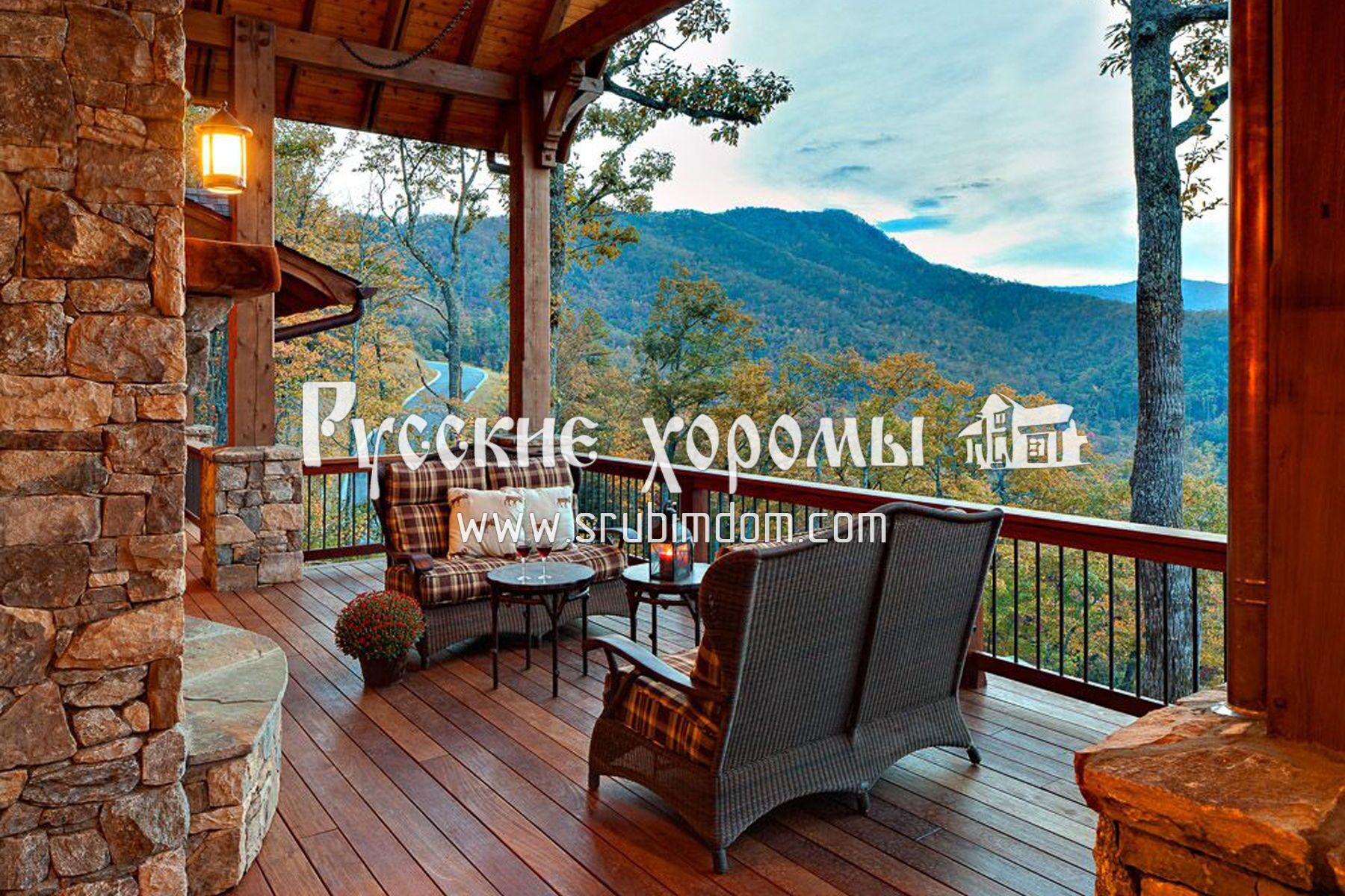 Дизайн деревянных балконов в частных домах фото..