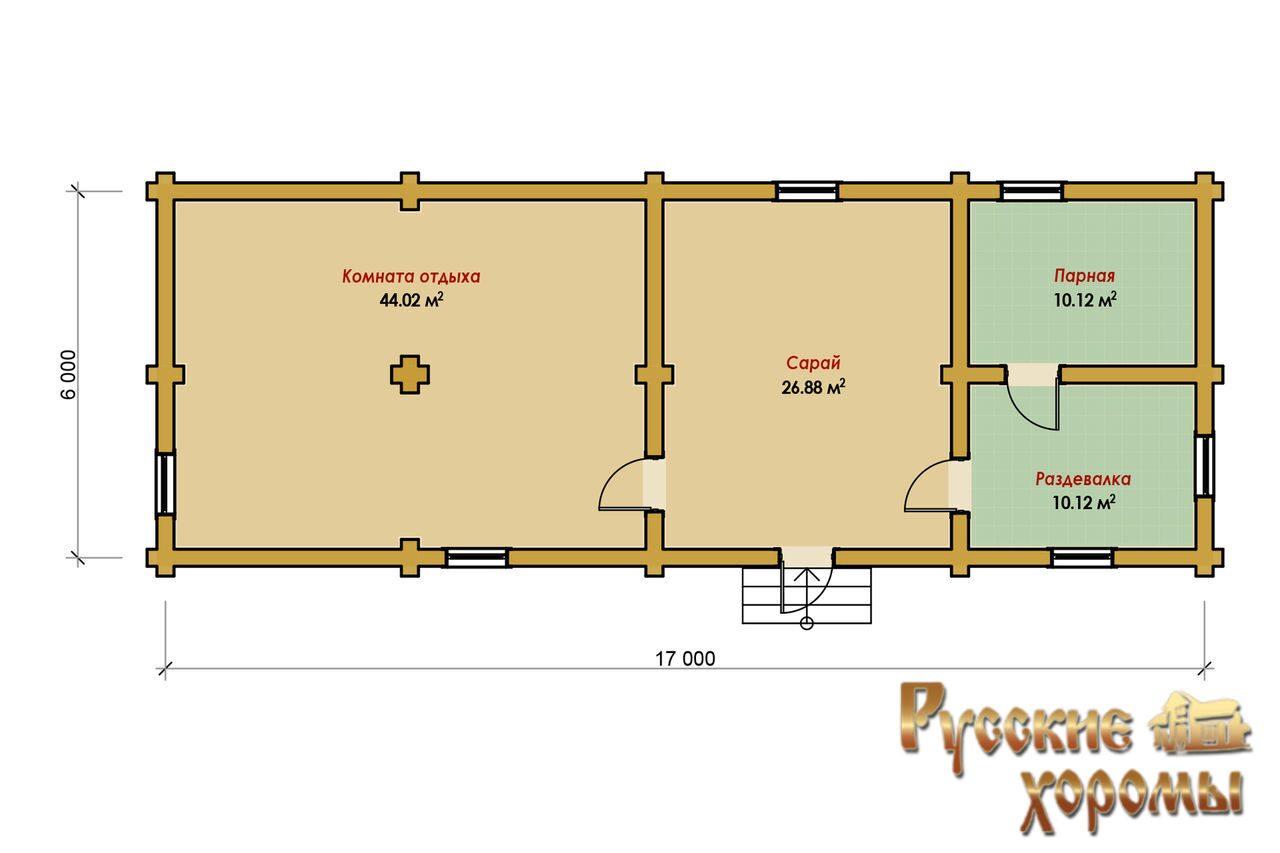 проекты и планировки рубленных бань