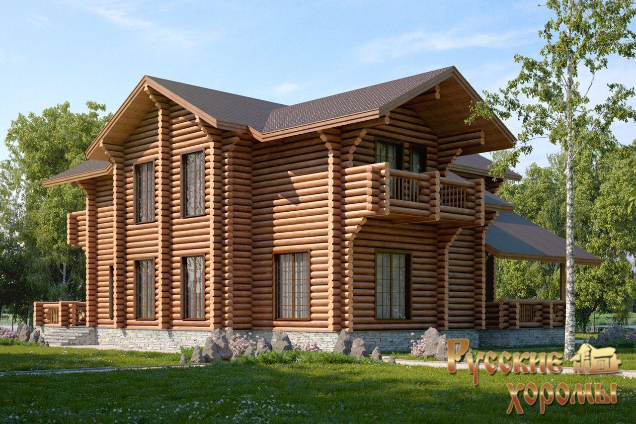 Проект этого дома из оцилиндрованного