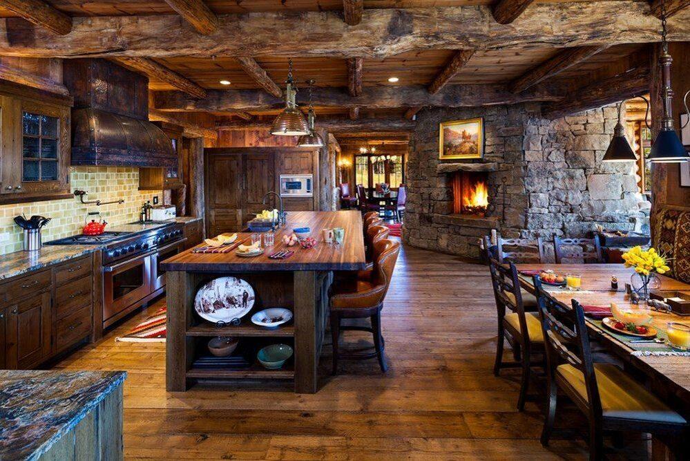 Самый красивый интерьер деревянного дома