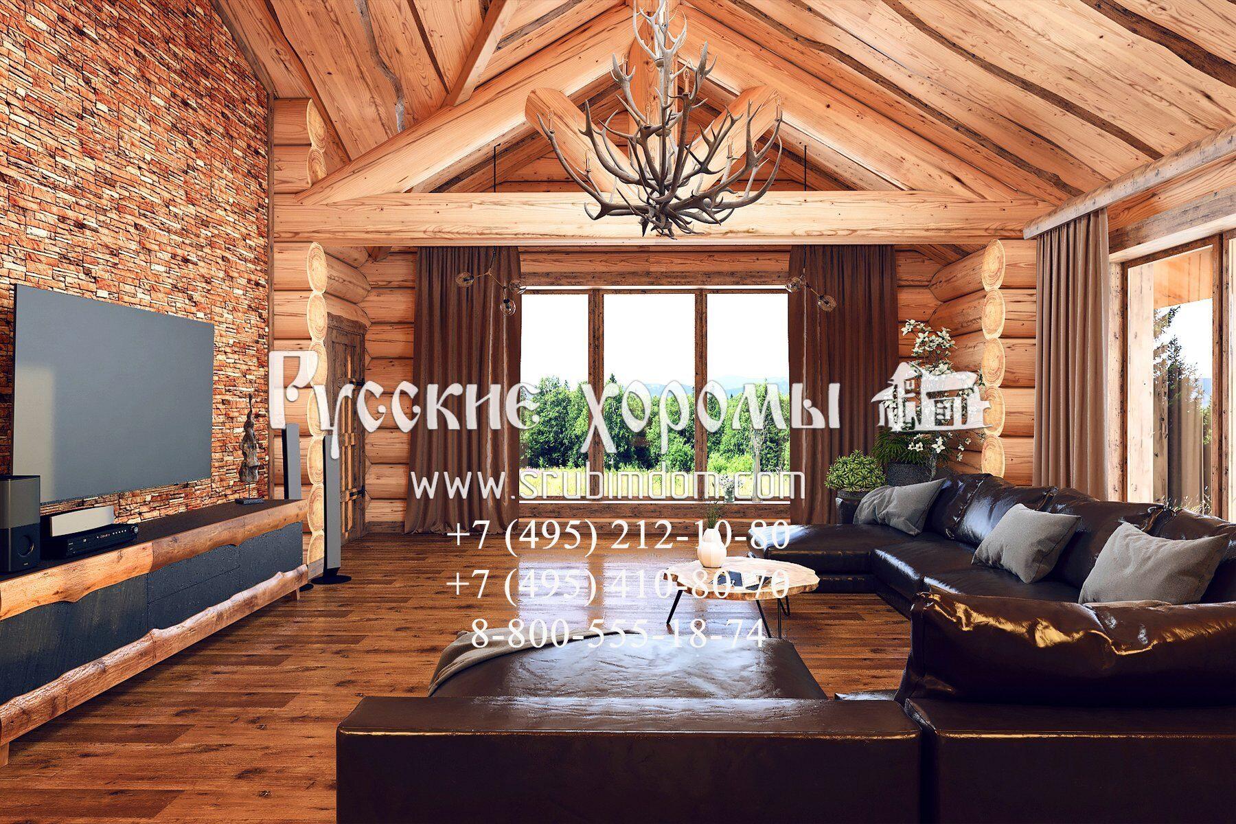 деревянные дома - интерьер