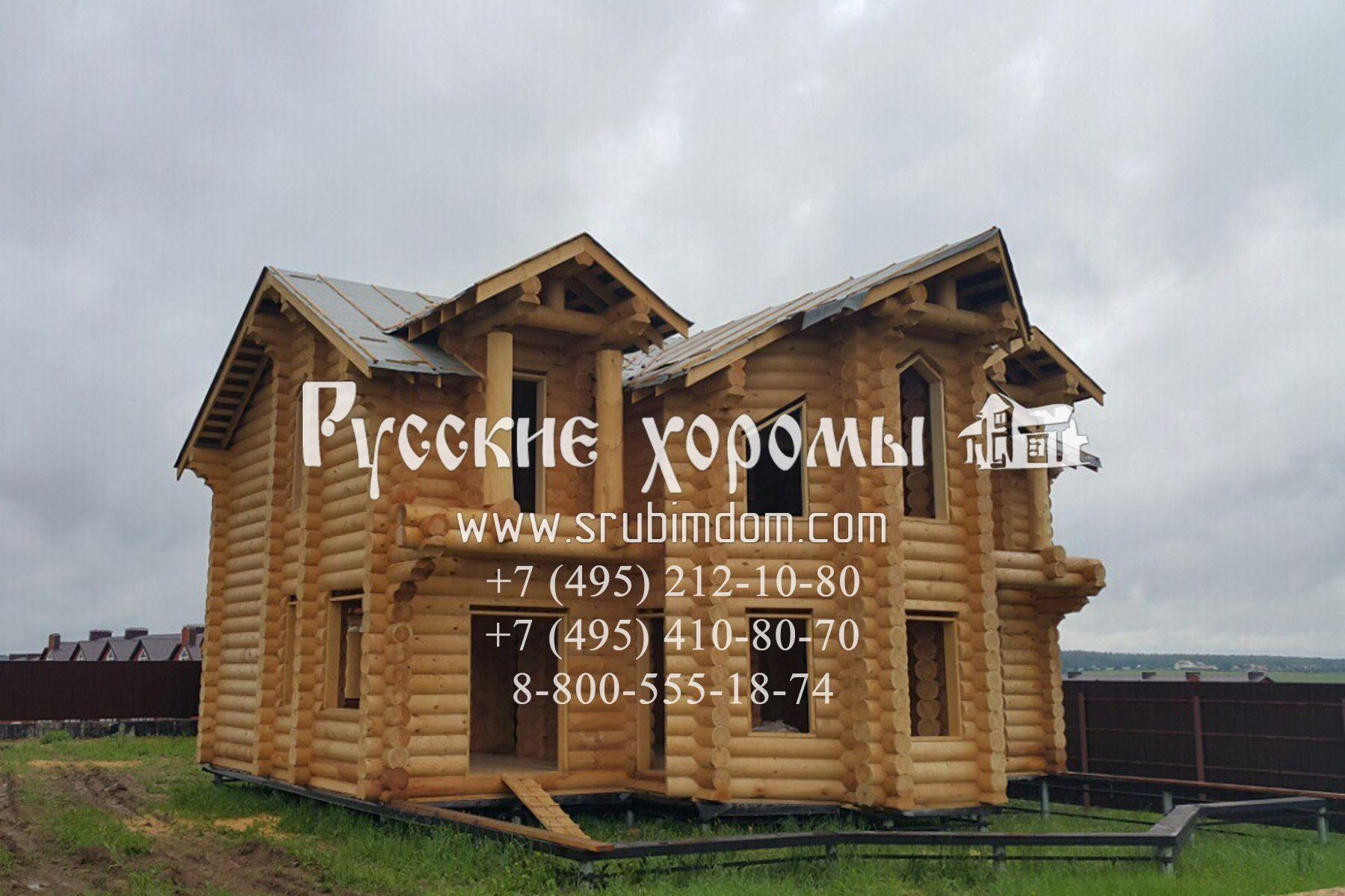 Дома из оцилиндрованного бревна от РУССКИХ ХОРОМ