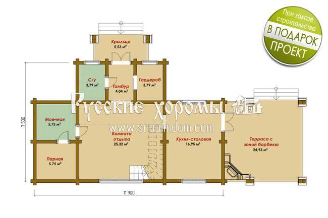 Планировка дома бани - дом баня из оцилиндрованного бревна Одинцово